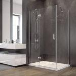 Glasabtrennung Dusche Duschkabine Rechteck Transparentes Glas 120x90 195 Cm Bodengleich Badewanne Walkin Eckeinstieg Bidet Antirutschmatte Bluetooth Dusche Glasabtrennung Dusche