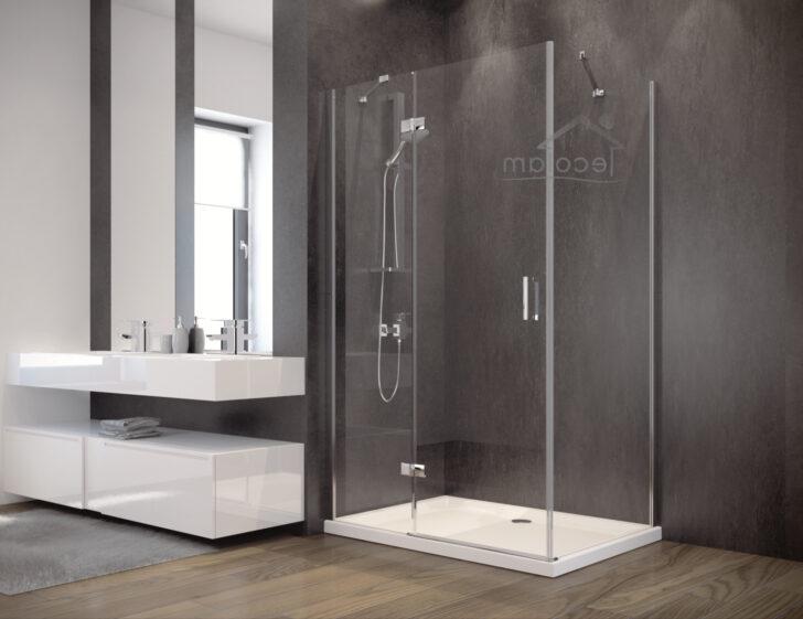Medium Size of Glasabtrennung Dusche Duschkabine Rechteck Transparentes Glas 120x90 195 Cm Bodengleich Badewanne Walkin Eckeinstieg Bidet Antirutschmatte Bluetooth Dusche Glasabtrennung Dusche