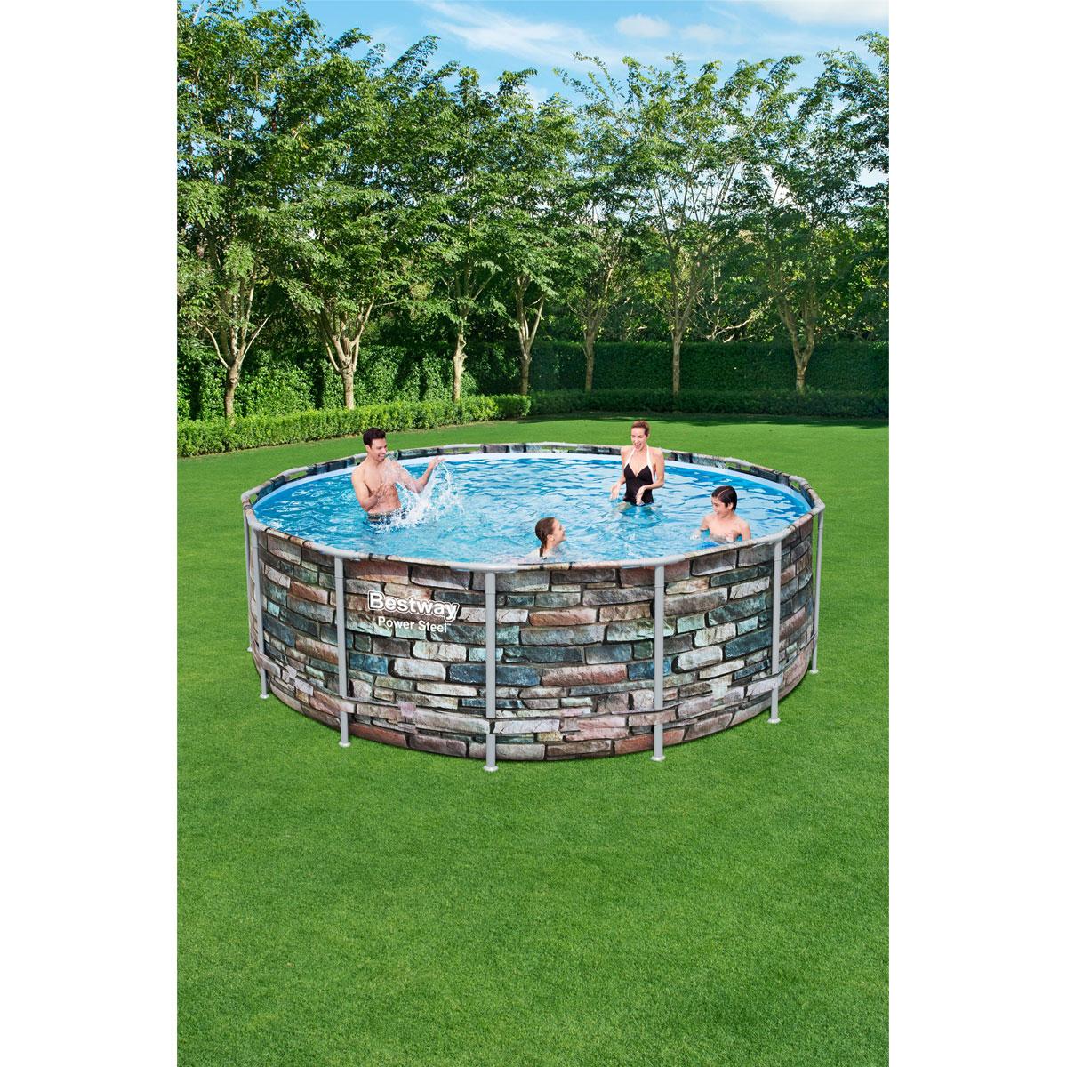 Full Size of Pool Kaufen Bestway Set Power Steel 427x122 Cm Mehrfarbig Bei Swimmingpool Garten Regal Im Bauen Küche Günstig Gebrauchte Fenster Bett Velux Mit Wohnzimmer Pool Kaufen