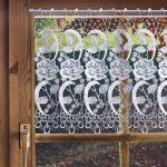 Scheibengardine Modern Gardinen Welt Online Shop Spitzengardine Rosen Esstisch Moderne Landhausküche Küche Holz Weiss Wohnzimmer Bilder Scheibengardinen Wohnzimmer Scheibengardine Modern
