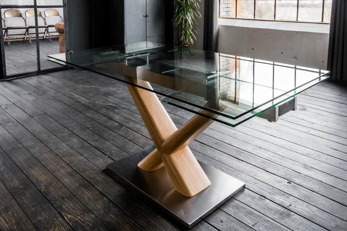 Full Size of Esstisch Glas Ausziehbar Gino Glastisch 160 240cm 90cm Ausziehbarer Glastrennwand Dusche Massiv Glastür Lampe Designer Mit Baumkante Rustikal Holz Esstische Esstische Esstisch Glas Ausziehbar