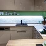 Rückwand Küche Wohnzimmer Rückwand Küche Kchenrckwand Led Licht Dimmen Farben Wechseln Glaszone Einbauküche Mit Elektrogeräten Nischenrückwand Aufbewahrungsbehälter Modulare