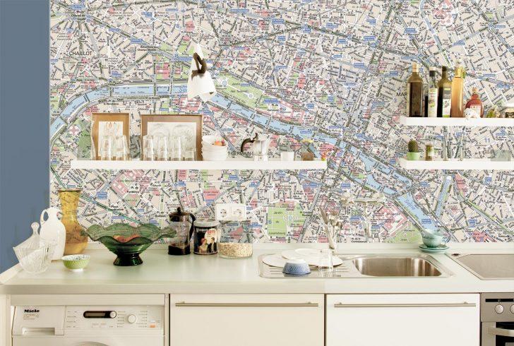 Medium Size of Tapete Für Küche Wandgestaltung Kche So Einfach Wirds Wohnlich Ikea Kosten Rosa Oberschrank Wandfliesen Grillplatte Industrielook Spielgeräte Den Garten Wohnzimmer Tapete Für Küche