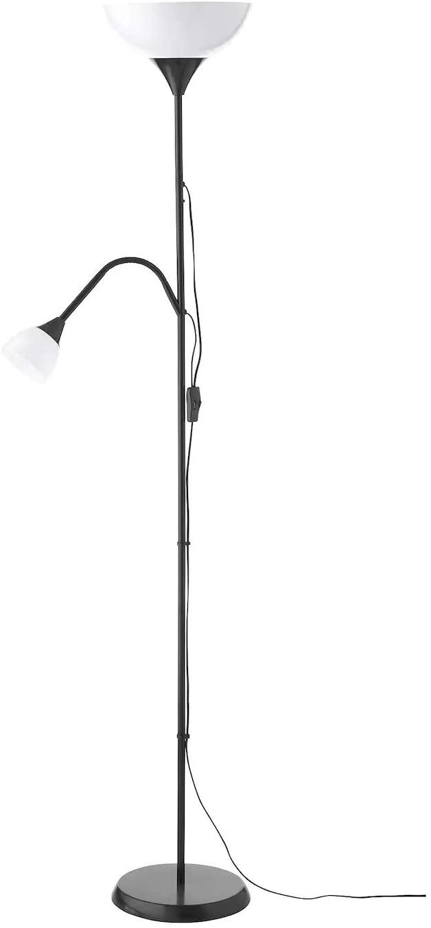 Full Size of Ikea Stehleuchte Dimmbar Stehlampe Deckenfluter Stehlampen Wohnzimmer Stehlampenschirm Papier Schirm Dimmen Hektar Not Leseleuchte In Schwarz Betten Bei Wohnzimmer Ikea Stehlampe