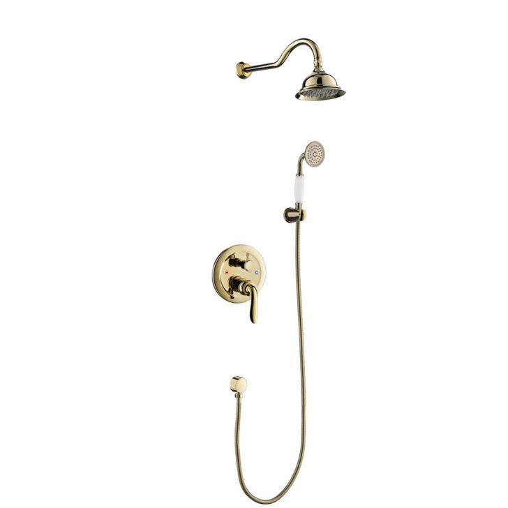 Medium Size of Unterputz Dusche Duschset Armatur Kopfbrause Handbrause Gold Fliesen Begehbare Duschen Komplett Set 80x80 Sprinz Bodengleiche Einbauen 90x90 Hüppe Ohne Tür Dusche Dusche Unterputz Armatur