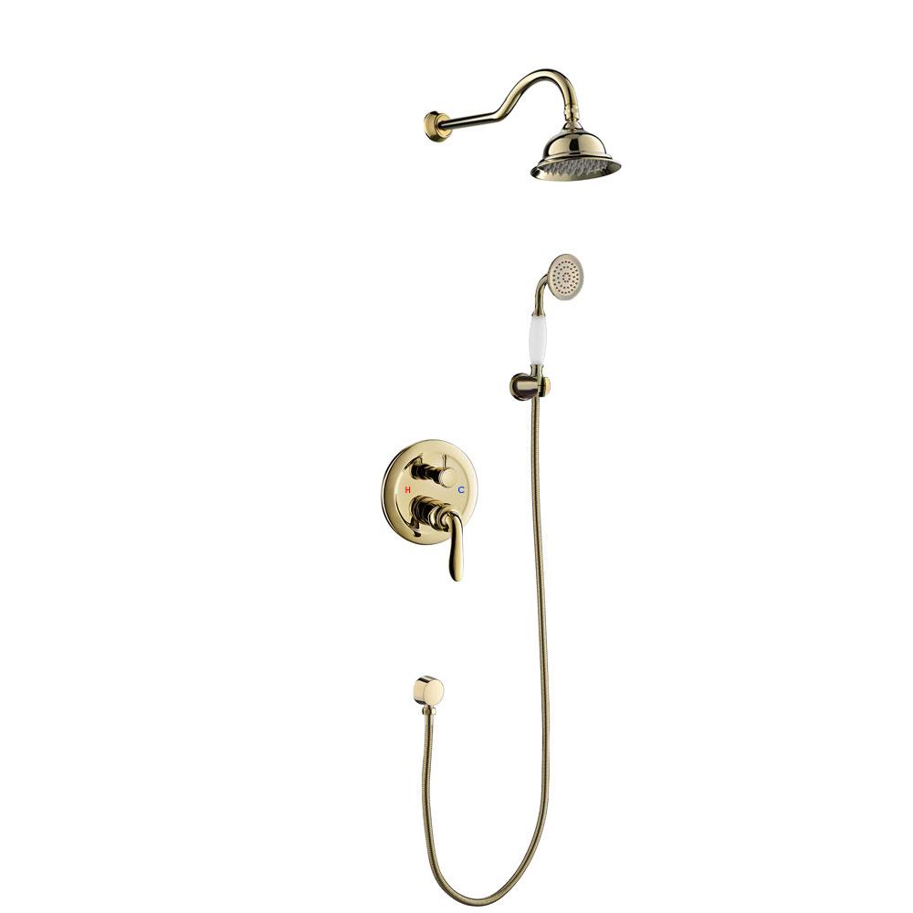 Full Size of Unterputz Dusche Duschset Armatur Kopfbrause Handbrause Gold Fliesen Begehbare Duschen Komplett Set 80x80 Sprinz Bodengleiche Einbauen 90x90 Hüppe Ohne Tür Dusche Dusche Unterputz Armatur