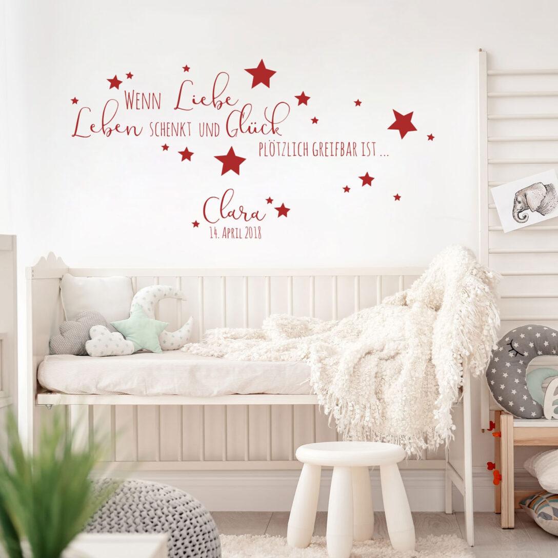 Large Size of Kinderzimmer Wanddeko Wandtattoo Baby Geburt Spruch Zitat Sterne Regal Weiß Sofa Küche Regale Kinderzimmer Kinderzimmer Wanddeko