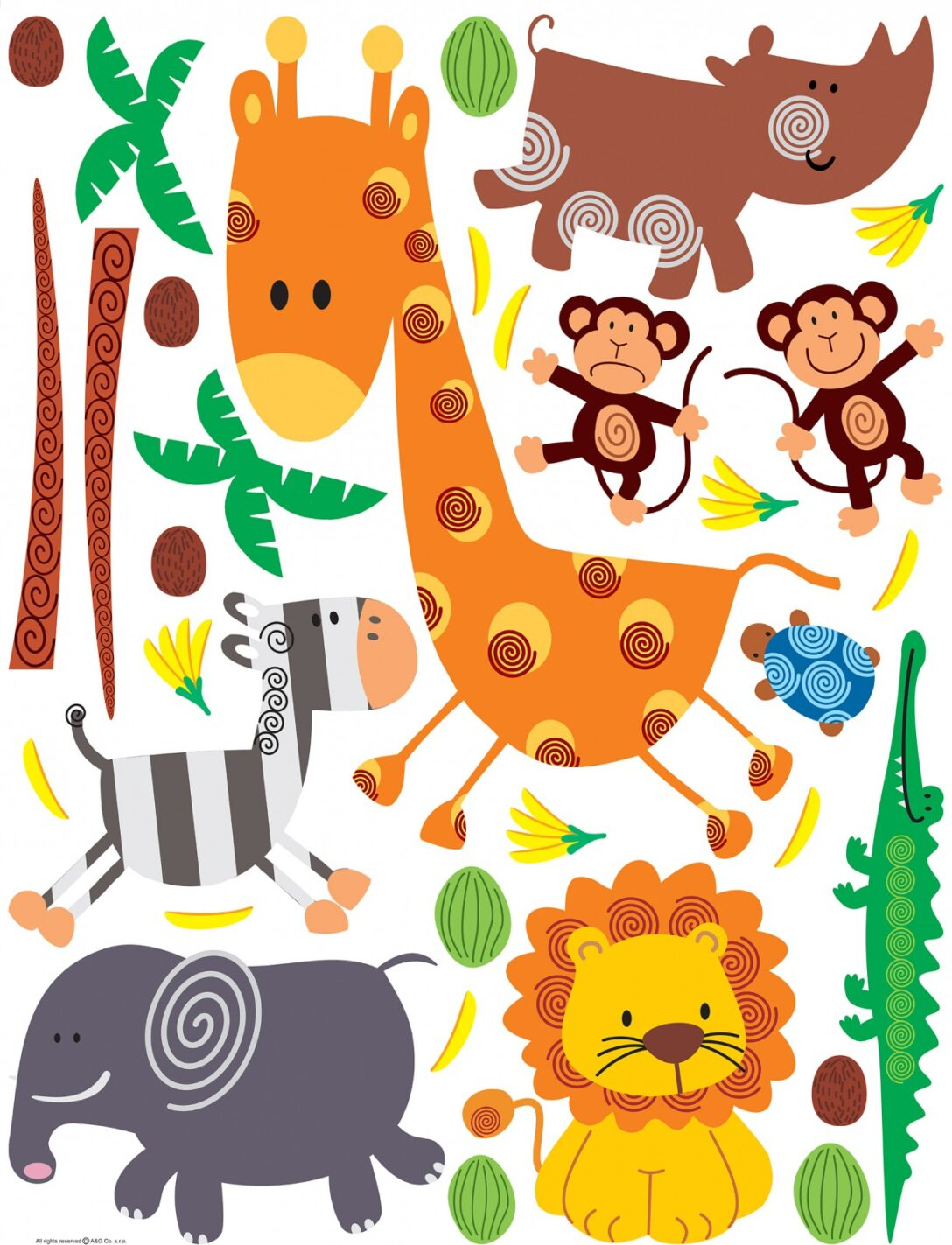 Large Size of Wandtattoo Kinderzimmer Tiere Wandsticker Sticker Zoo 65x85cm Regal Sprüche Wandtattoos Küche Bad Schlafzimmer Sofa Wohnzimmer Weiß Badezimmer Regale Kinderzimmer Wandtattoo Kinderzimmer Tiere