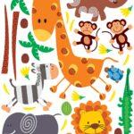 Wandtattoo Kinderzimmer Tiere Wandsticker Sticker Zoo 65x85cm Regal Sprüche Wandtattoos Küche Bad Schlafzimmer Sofa Wohnzimmer Weiß Badezimmer Regale Kinderzimmer Wandtattoo Kinderzimmer Tiere