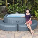 Whirlpool Aufblasbar Wohnzimmer Einfassung Eckig Fr Whirlpool Aufblasbar Lay Z Spa Garten
