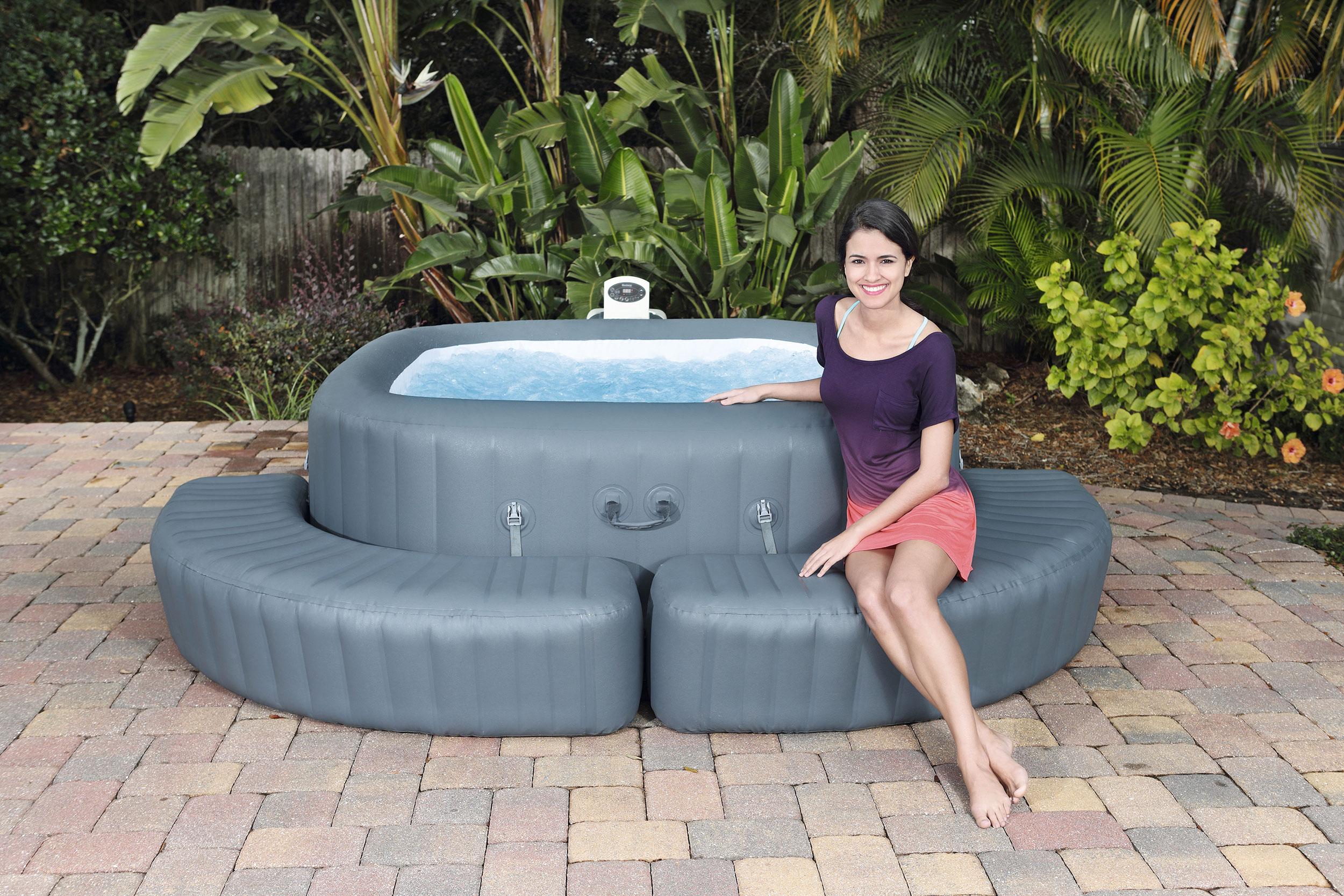 Full Size of Einfassung Eckig Fr Whirlpool Aufblasbar Lay Z Spa Garten Wohnzimmer Whirlpool Aufblasbar