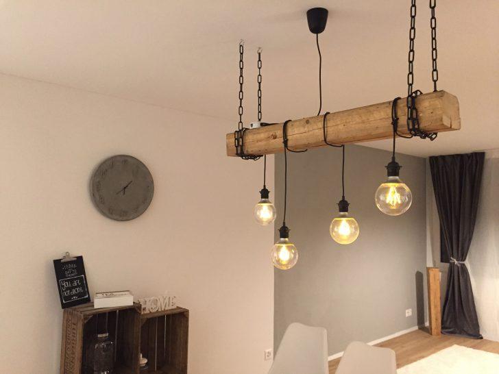 Medium Size of Moderne Lampen Selfmade Rustikale Lampe Mit Hngenden Glhbirnen Und Holzbalken Stehlampen Wohnzimmer Led Badezimmer Modernes Bett Deckenleuchte Esstische Küche Wohnzimmer Moderne Lampen