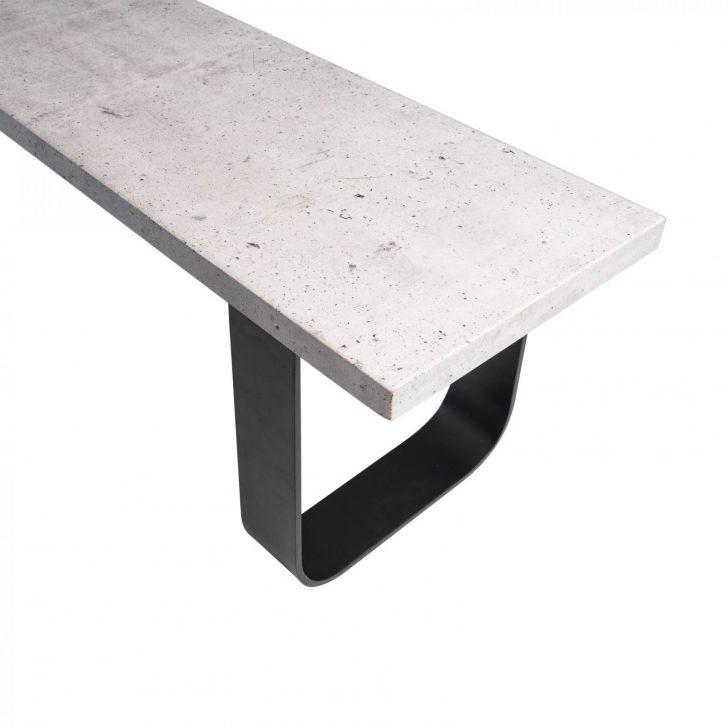 Medium Size of Gartentisch Betonoptik Sitzbank In Passend Zu Design Esstisch Bad Küche Wohnzimmer Gartentisch Betonoptik