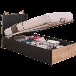 Stauraumbett 120x200 Wohnzimmer Stauraumbett 120x200 Cilek Black Bett Mit Matratze Und Lattenrost Betten Weiß Bettkasten