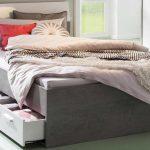 Stauraumbett 120x200 Wohnzimmer Stauraumbett Mipiace Beton Look Hochglanz Wei Bett Weiß 120x200 Betten Mit Matratze Und Lattenrost Bettkasten