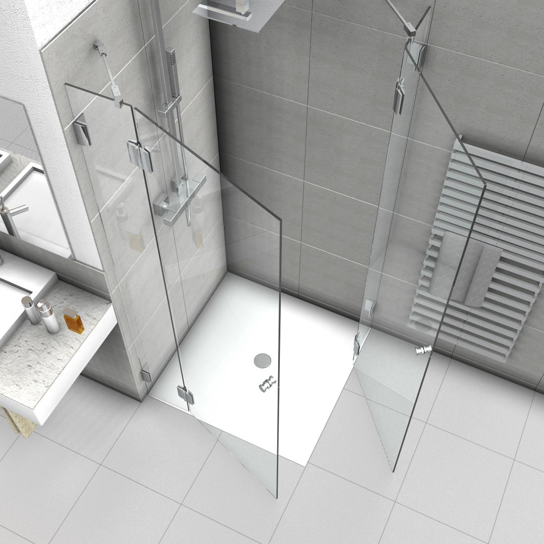 Full Size of Dusche Eckeinstieg Duschabtrennung Mit Zwei Duschtren Thermostat Bluetooth Lautsprecher Mischbatterie 90x90 Fliesen Begehbare Ohne Tür Grohe Unterputz Schulte Dusche Dusche Eckeinstieg
