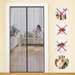 Mycarbon Fliegengitter Tr Insektenschutz Magnet Fliegenvorhang 90 Magnettafel Küche Für Fenster Maßanfertigung Wohnzimmer Fliegengitter Magnet