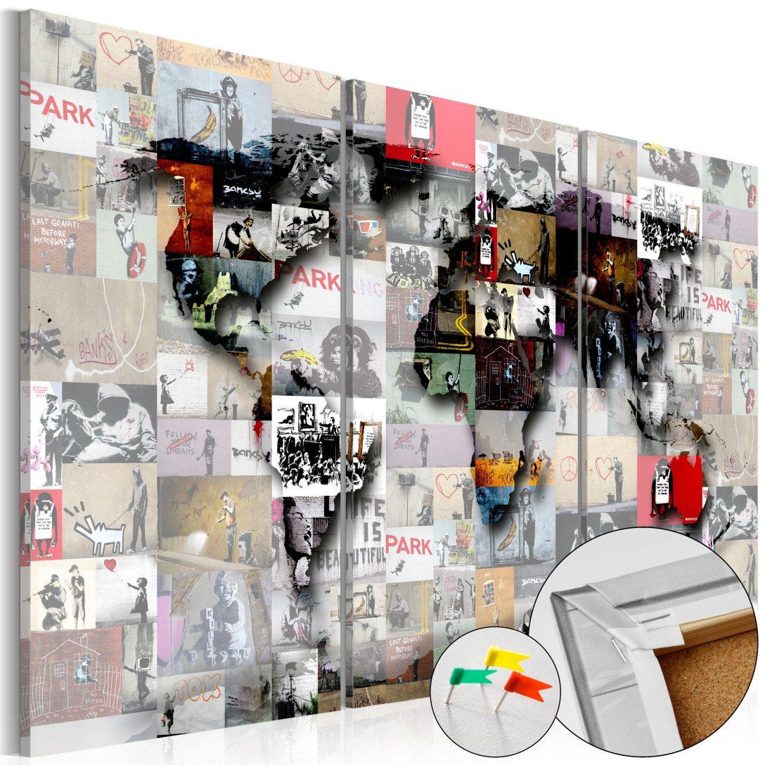 Large Size of Pinnwand Modern Worlds Map Cork Bilder Deckenleuchte Schlafzimmer Modernes Bett 180x200 Esstisch Küche Holz Moderne Esstische Weiss Tapete Design Fürs Wohnzimmer Pinnwand Modern
