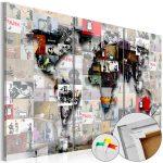 Pinnwand Modern Worlds Map Cork Bilder Deckenleuchte Schlafzimmer Modernes Bett 180x200 Esstisch Küche Holz Moderne Esstische Weiss Tapete Design Fürs Wohnzimmer Pinnwand Modern