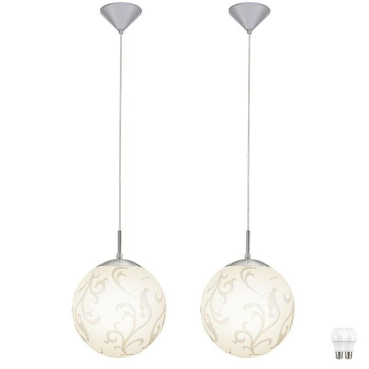 Medium Size of 2er Set Led Hngelampen Aus Glas In Kugelform Rebecca Meinelampe Wohnzimmer Hängelampen