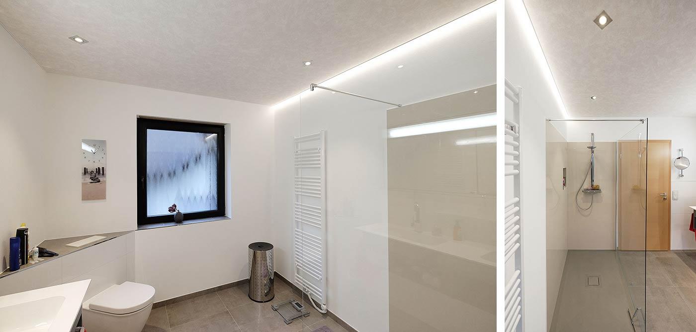 Full Size of Indirekte Beleuchtung Decke Neues Badezimmer In Kirchhundem Wohnzimmer Led Deckenleuchte Decken Deckenlampe Spiegelschrank Bad Mit Und Steckdose Im Lampe Wohnzimmer Indirekte Beleuchtung Decke