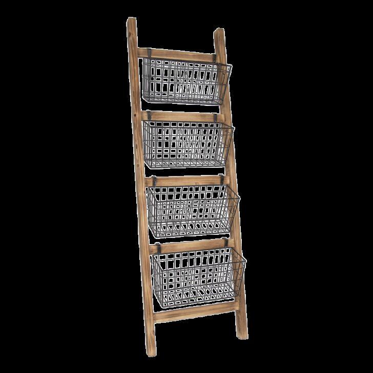 Medium Size of Leiterregal Aus Holz Mit Metallkrben Von Clayre Eef Gnstig Regal Kisten Weiße Regale Glasregal Bad Blu Ray Kolonialstil Kleines Weiß Wandregal Küche Regal Leiter Regal