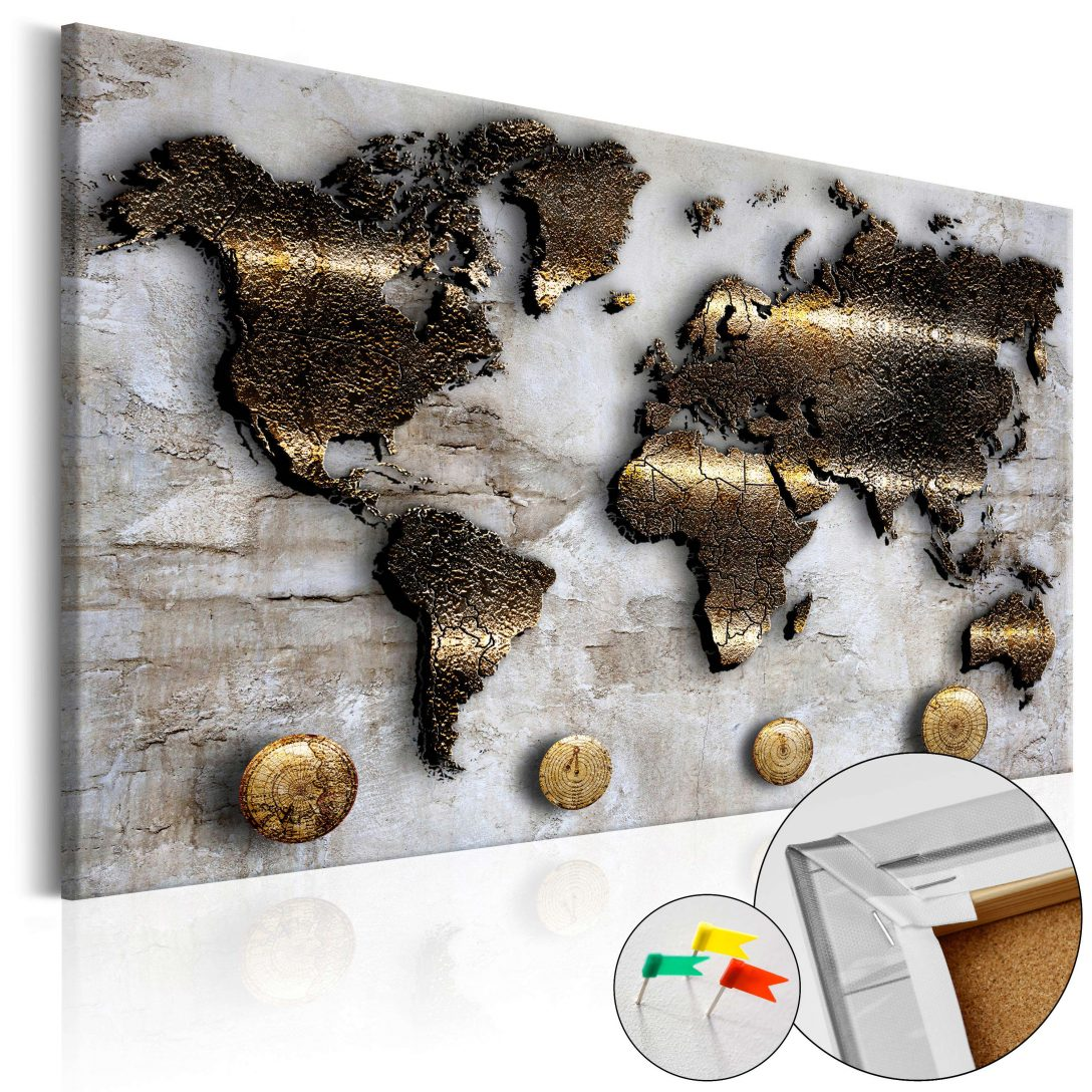 Large Size of Pinnwand Modern Korkbild Golden Journey Cork Map Moderne Esstische Modernes Bett Sofa Duschen Deckenleuchte Wohnzimmer Bilder Fürs Küche Holz Weiss Esstisch Wohnzimmer Pinnwand Modern