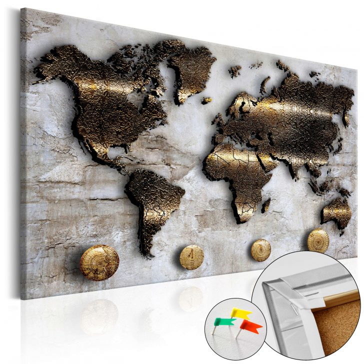 Medium Size of Pinnwand Modern Korkbild Golden Journey Cork Map Moderne Esstische Modernes Bett Sofa Duschen Deckenleuchte Wohnzimmer Bilder Fürs Küche Holz Weiss Esstisch Wohnzimmer Pinnwand Modern