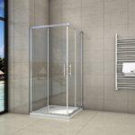Dusche Eckeinstieg Dusche Dusche Eckeinstieg Duschkabine Duschabtrennung Schiebetr Esg Glas Badewanne Wand Glastrennwand Schiebetür Haltegriff Nischentür Bodengleiche Nachträglich
