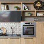 Moderne Einbaukche Alpen Wohnkche Wohnzimmer Küchenwand