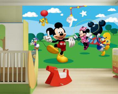 Fototapeten Kinderzimmer Kinderzimmer Fototapeten Kinderzimmer Mit Disney Micky Maus Tapeten Gnstige Sofa Regale Regal Wohnzimmer Weiß