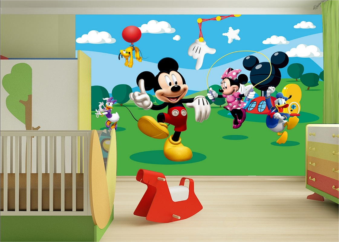 Full Size of Fototapeten Kinderzimmer Mit Disney Micky Maus Tapeten Gnstige Sofa Regale Regal Wohnzimmer Weiß Kinderzimmer Fototapeten Kinderzimmer