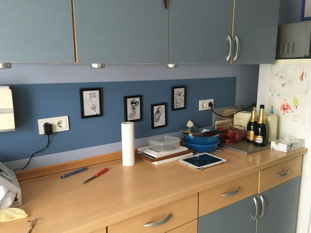 Full Size of Gestaltung Einer Kchenwand Malermeisterbetrieb Timo Blender Wohnzimmer Küchenwand