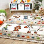 Kinderzimmer Teppiche Kinderzimmer Kinderzimmer Teppiche Teppich Savona Kids Farm Tiere Bunt Und Regal Wohnzimmer Sofa Weiß Regale