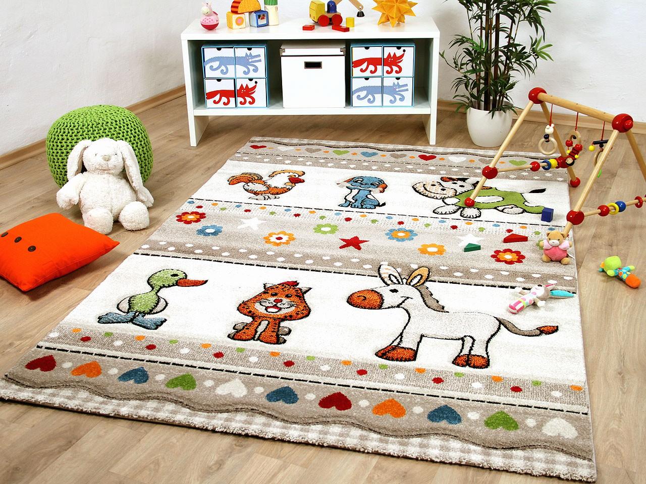 Full Size of Kinderzimmer Teppiche Teppich Savona Kids Farm Tiere Bunt Und Regal Wohnzimmer Sofa Weiß Regale Kinderzimmer Kinderzimmer Teppiche