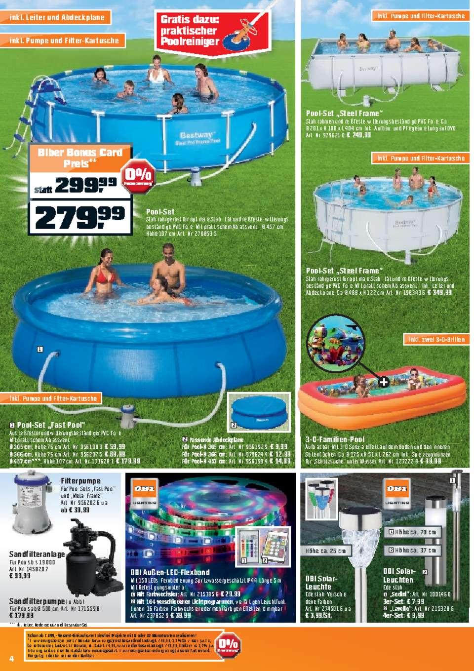 Full Size of Obi Pool Angebote Aktueller Prospekt Seite No 4 12 Gltig Von Einbauküche Nobilia Küche Immobilienmakler Baden Mini Garten Mobile Regale Whirlpool Guenstig Wohnzimmer Obi Pool