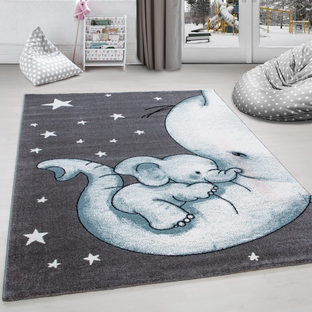 Large Size of Kinderteppich Kinderzimmer Teppich Niedlicher Elefantenbaby Stern Regale Regal Weiß Sofa Wohnzimmer Teppiche Kinderzimmer Teppiche Kinderzimmer