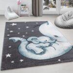 Kinderteppich Kinderzimmer Teppich Niedlicher Elefantenbaby Stern Regale Regal Weiß Sofa Wohnzimmer Teppiche Kinderzimmer Teppiche Kinderzimmer