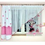 Scheibengardinen Kinderzimmer Kindergardine Minnie Mouse Gardine Fr Mdchen Einrichtung Regal Weiß Sofa Küche Regale Kinderzimmer Scheibengardinen Kinderzimmer