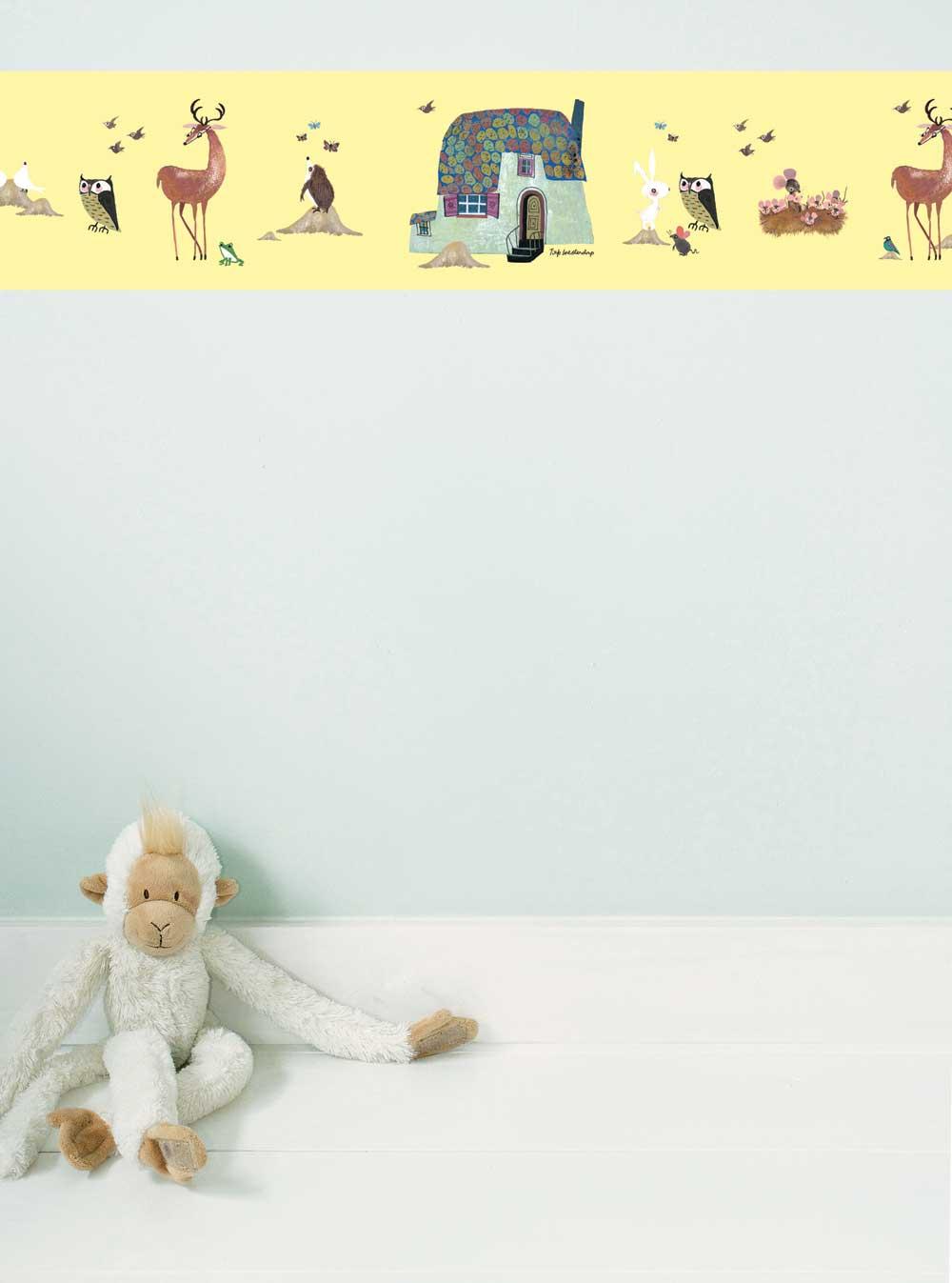 Full Size of Bordüren Kinderzimmer Kek Amsterdam Bordre Tiere Im Wald Gelb Bei Rume Regale Regal Weiß Sofa Kinderzimmer Bordüren Kinderzimmer