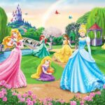 Fototapeten Kinderzimmer Kinderzimmer Fototapeten Kinderzimmer Fototapete Disney Princess Wandbild Walltastic Regal Wohnzimmer Regale Sofa Weiß