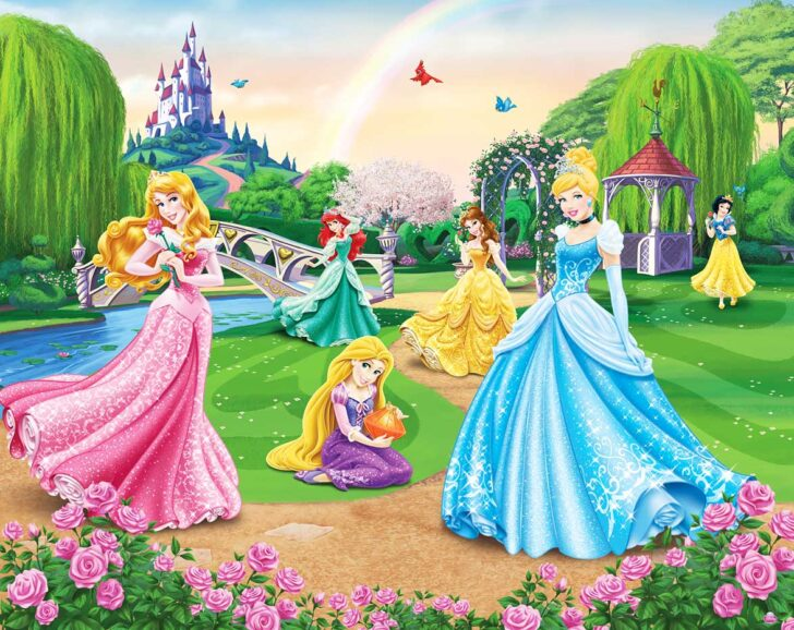 Medium Size of Fototapeten Kinderzimmer Fototapete Disney Princess Wandbild Walltastic Regal Wohnzimmer Regale Sofa Weiß Kinderzimmer Fototapeten Kinderzimmer