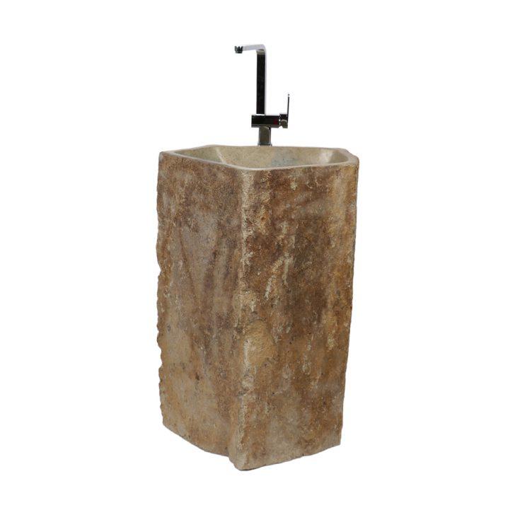 Medium Size of Outdoor Waschbecken Megalith Waschtischsule Natur 70x70x85 Cm Küche Edelstahl Kaufen Badezimmer Bad Keramik Wohnzimmer Outdoor Waschbecken
