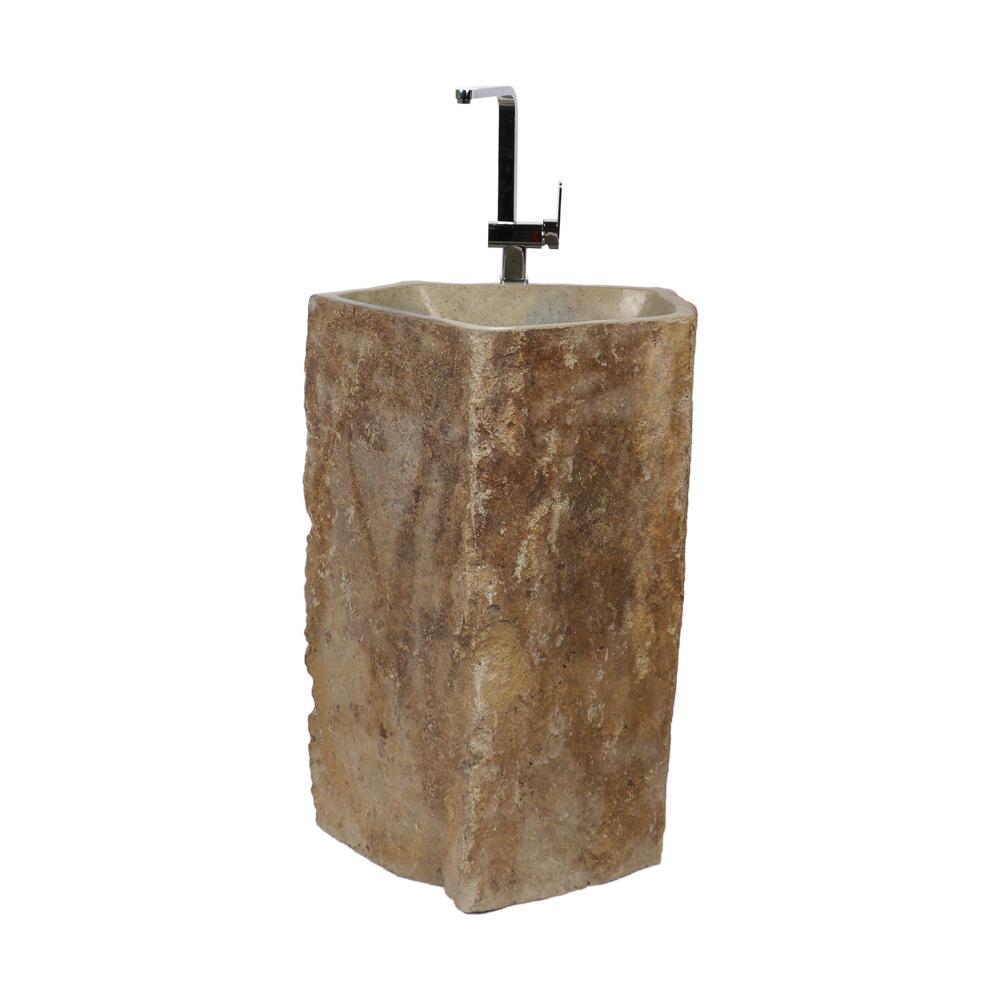 Full Size of Outdoor Waschbecken Megalith Waschtischsule Natur 70x70x85 Cm Küche Edelstahl Kaufen Badezimmer Bad Keramik Wohnzimmer Outdoor Waschbecken