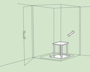 Barrierefreie Dusche Dusche Mischbatterie Dusche Badewanne Mit 80x80 Tür Und Glaswand Einhebelmischer Bodengleiche Fliesen Barrierefreie Antirutschmatte Hsk Duschen Kleine Bäder Walk