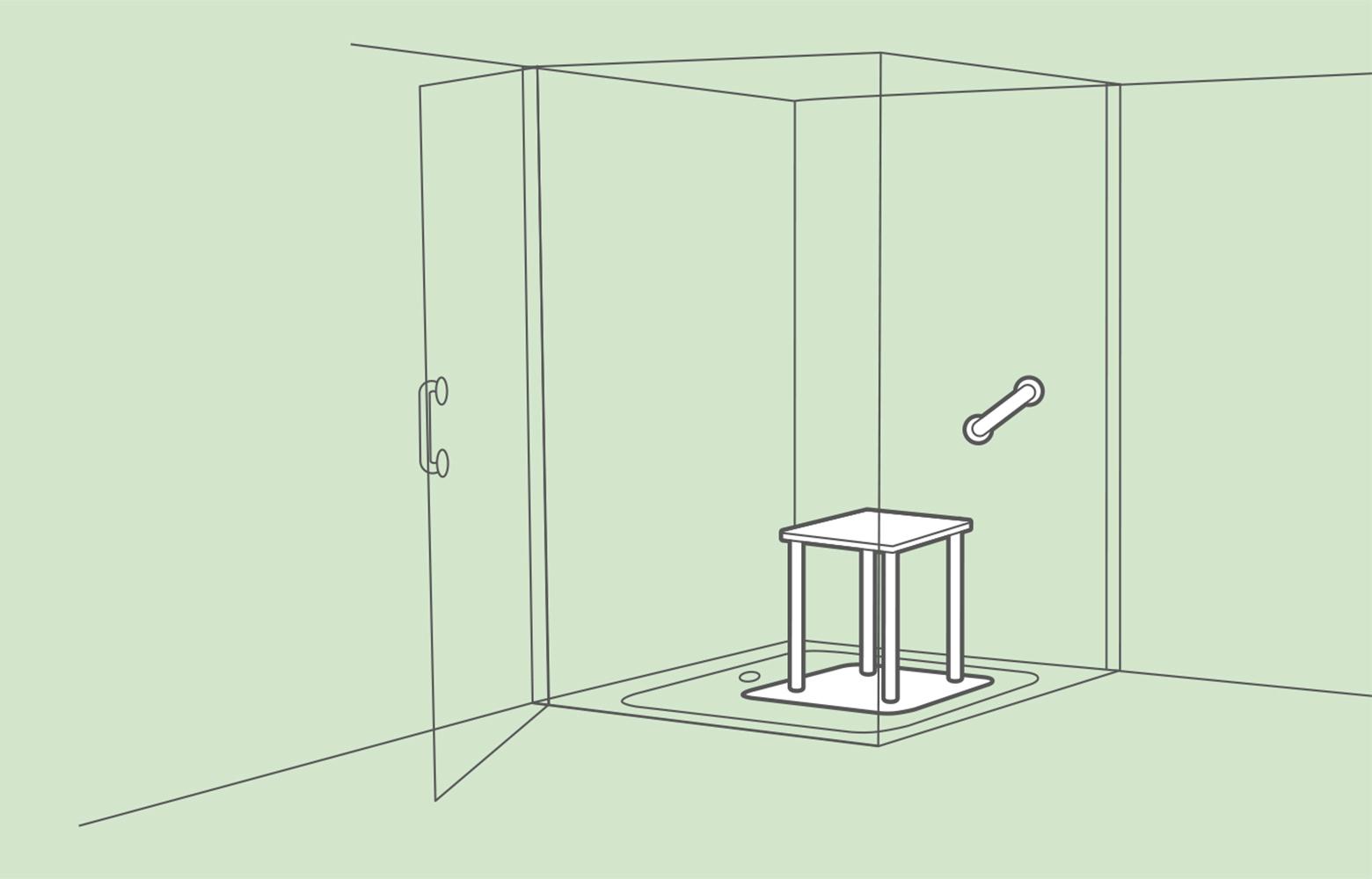 Full Size of Mischbatterie Dusche Badewanne Mit 80x80 Tür Und Glaswand Einhebelmischer Bodengleiche Fliesen Barrierefreie Antirutschmatte Hsk Duschen Kleine Bäder Walk Dusche Barrierefreie Dusche