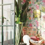 Tapeten Trends 2020 Wohnzimmer Diese Tapete Sorgt Mit Ihren Blattmustern Und Blten Fr Wandbild Liege Kommode Deko Heizkörper Relaxliege Für Küche Wohnzimmer Tapeten Trends 2020 Wohnzimmer