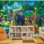 Wandbild Kinderzimmer Kinderzimmer Wandbild Kinderzimmer Fototapete Tapete Dschungel Xxl Wald Wohnzimmer Regal Weiß Wandbilder Schlafzimmer Regale Sofa