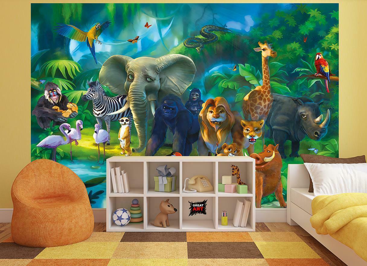 Full Size of Wandbild Kinderzimmer Fototapete Tapete Dschungel Xxl Wald Wohnzimmer Regal Weiß Wandbilder Schlafzimmer Regale Sofa Kinderzimmer Wandbild Kinderzimmer