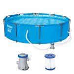 Bestway Pool Set Steel Pro Ma305x76 Cm Blau Kaufen Bei Hellwegat Günstig Betten Küche Regal Regale Sofa Swimmingpool Garten Schüco Fenster In Polen Dusche Wohnzimmer Pool Kaufen